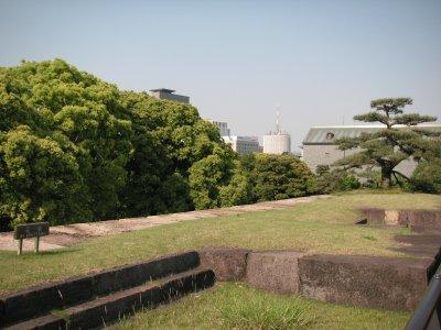 江戸城天守台跡(上から)